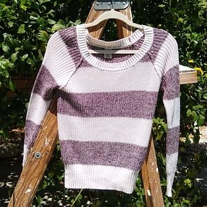 Roxi Pullover Scoop Neck Sweater with Stripes S